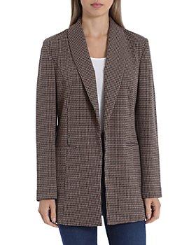 Bagatelle - Plaid Shawl-Collar Blazer