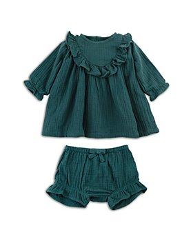 Oliver & Rain - Girls' Ruffled Crinkle Gauze Dress - Baby