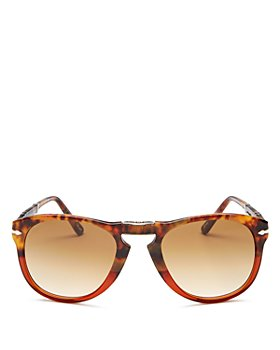 Persol - Men's Round Fold-Up Sunglasses, 54mm