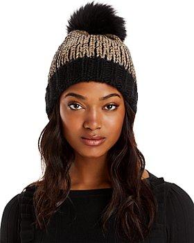 AQUA - Pom-Pom Knit Hat - 100% Exclusive
