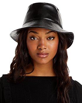 AQUA - Faux Leather Bucket Hat - 100% Exclusive