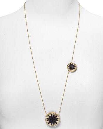 "House of Harlow 1960 - Double Sunburst Necklace, 26"""