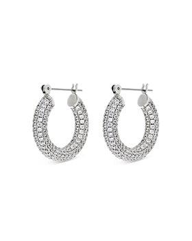 Luv Aj - Baby Amalfi Pavé Hoop Earrings