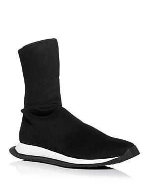 Drkshdw Rick Owens Men\\\'s Runner Stretch Sock High Top Sneakers