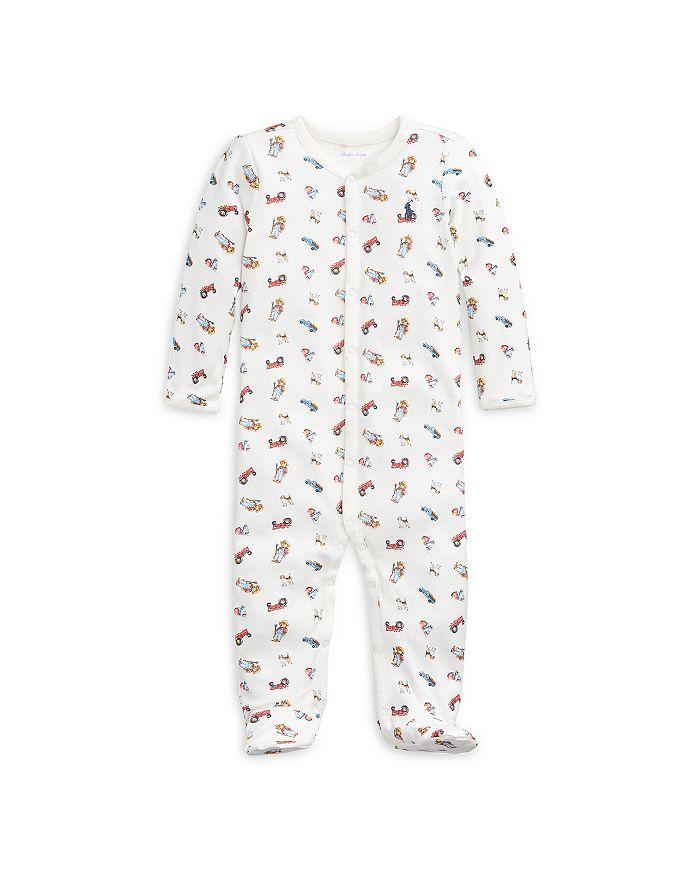 Ralph Lauren - Boys' Farmer Bear Cotton Footie - Baby