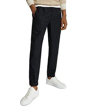 REISS - Tower Pinstripe Wool Flannel Pants