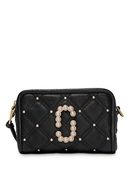 MARC JACOBS - The Softshot Pearl 17 Small Leather Crossbody