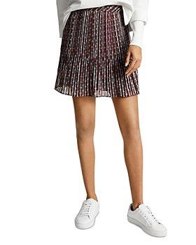 REISS - Alani Printed Mini Skirt