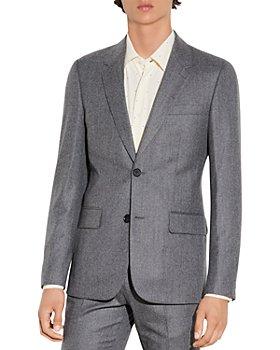 Sandro - Wool Flannel Suit Jacket