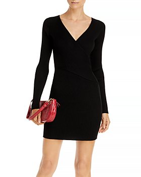 AQUA - Ribbed Sweater Dress - 100% Exclusive