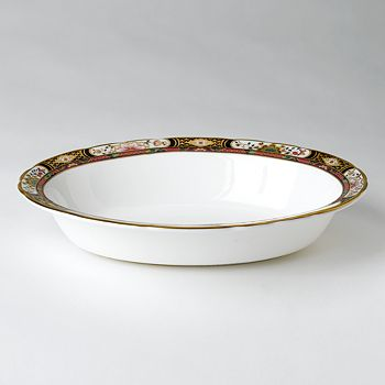 "Royal Crown Derby - ""Chelsea Garden"" Open Vegetable Bowl"