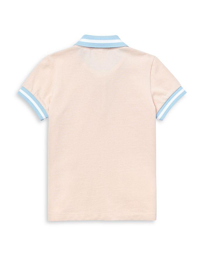 LACOSTE Cottons GIRLS' COTTON CONTRAST RIB POLO SHIRT - LITTLE KID, BIG KID