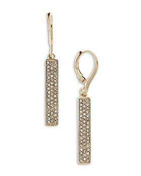 Ralph Lauren - Micro Pavé Bar Linear Drop Earrings