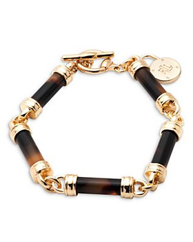 Ralph Lauren - Tortoise Look Barrel Beaded Flex Bracelet