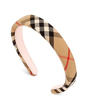 Burberry Ornaments GIRLS' VINTAGE CHECK HEADBAND