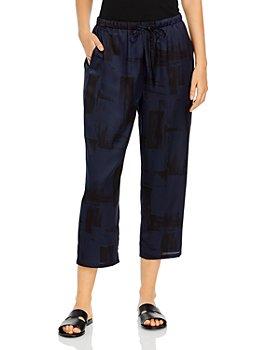 Eileen Fisher - Printed Slouchy Crop Pants