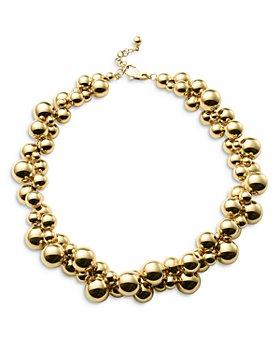 "Marina B - 18K Yellow Gold Atomo Necklace, 18"""