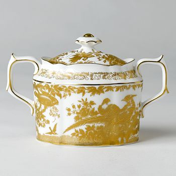 """Royal Crown Derby - """"Gold Aves"""" Covered Sugar Bowl"""