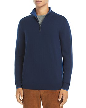 Michael Kors - Quarter Zip Merino Wool Sweater