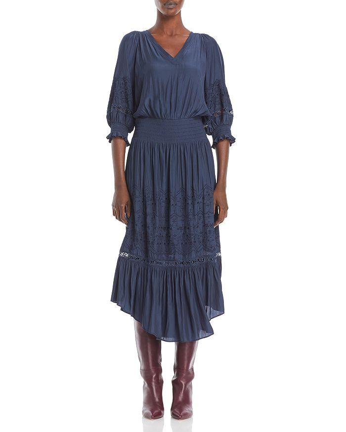 Ramy Brook - Tanya Smocked Midi Dress