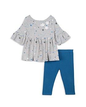Pippa & Julie - Girls' Star Bell Sleeve Top & Denim Legging Set - Baby