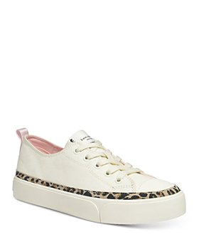kate spade new york - Women's Kaia Leopard Print Trim Platform Sneakers