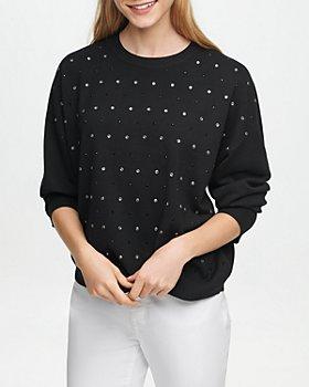 DKNY - Drop Shoulder Embellished Sweatshirt