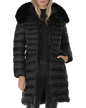 Dawn Levy - Milly Shearling Trim Puffer Coat