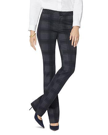 NYDJ - Plaid Slim Fit Trousers