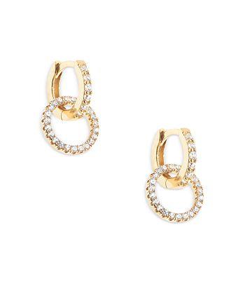 AQUA - AQUA Crystal Double Link Hoop Earrings