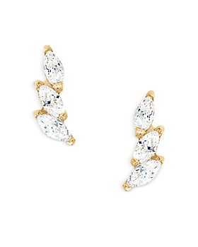 AQUA - AQUA Cubic Zirconia Wing Inspired Stud Earrings
