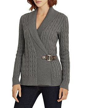 Ralph Lauren - Cable Knit Buckled Sweater
