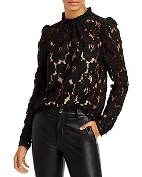 WAYF - Erika Puff-Sleeve Lace Top