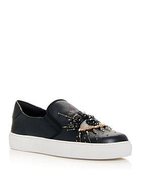 KURT GEIGER LONDON - Women's Leah Embellished Slip On Sneakers