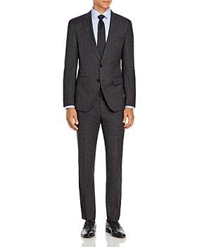BOSS - Huge/Genius Plaid Slim Fit Suit