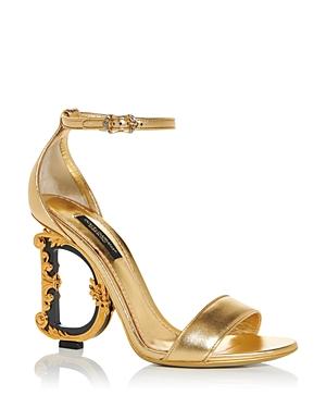 Dolce & Gabbana Women\\\'s D & G Sculpted High Heel Sandals