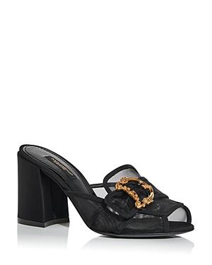 Dolce & Gabbana Women\\\'s High Block Heel Slide Sandals