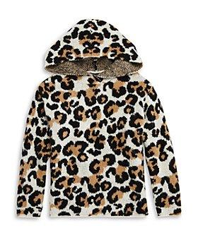 AQUA - Girls' Leopard Sweater Hoodie - Big Kid