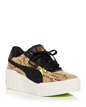 PUMA - Women's Cali Snake Embossed Wedge Platform Low Top Sneakers