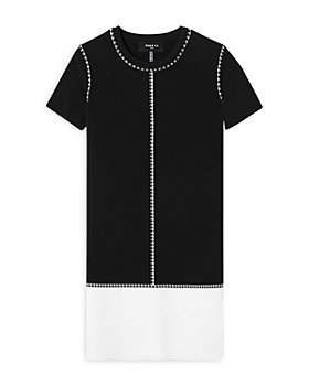 PAULE KA - Checkered Color Blocked Shift Dress