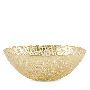 Vietri Rufolo Glass Gold Crocodile Small Bowl-Home
