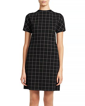 Theory - Dolman Sleeve Plaid Shift Dress