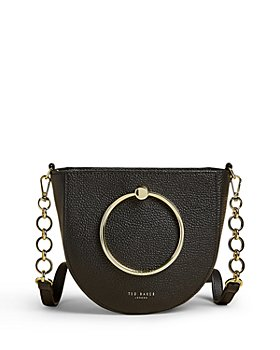 Ted Baker - Fiorel Ring Handle Leather Curved Crossbody Bag