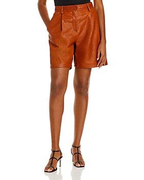 rag & bone - Ivy Leather Shorts