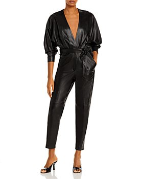 IRO - Healy Leather Jumpsuit