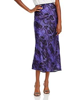 Andamane - Bella Printed Midi Slip Skirt