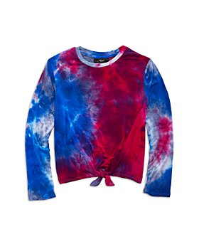 AQUA - Girls' Tie Dyed Tie Front Top, Big Kid - 100% Exclusive