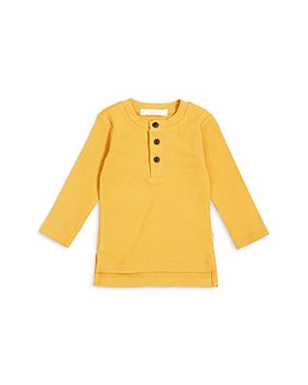 FIRSTS by petit lem - Unisex Long Sleeve Henley Top - Baby
