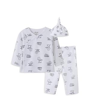 Little Me Boys\\\' Bear Print Hat, Top & Pants Set - Baby-Kids