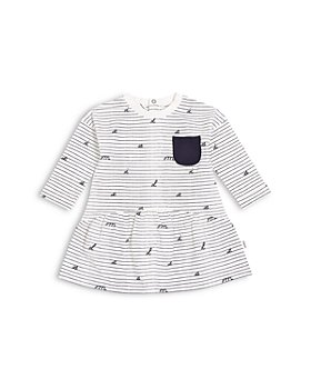 Miles Baby - Girls' Printed Long Sleeve Knit Dress - Baby